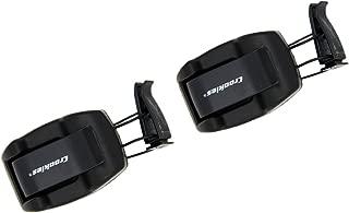 product image for Croakies Shade Dock Car Sunglass and Eyeglass Automobile Shade Visor Clip, Black (2 Pack)