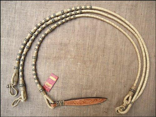 (HILASON 108F Western Rawhide Braided Leather Show Rommel Romel ROMAL REINS Horse)