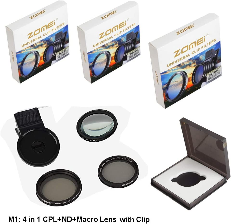 Polarizer Gadget Place Variable ND Filter Closeup Lens Kit for Sony Xperia X Compact