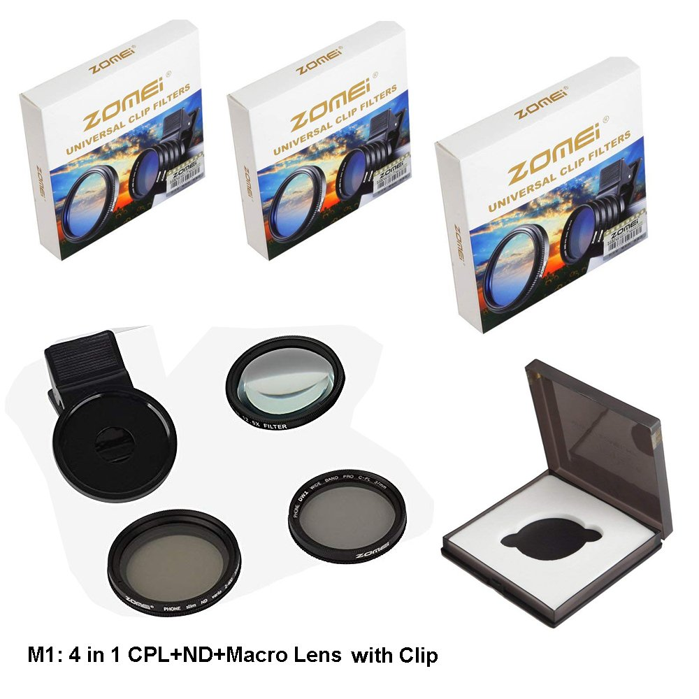 Amazon com: Zomei 4 in 1 Cell Phone Camera Lens Kit, 10X