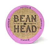 BEAN HEAD Premium Organic Single Serve Cups, Compatible with Keurig K-Cup Brewers, 12 Count, 132gm