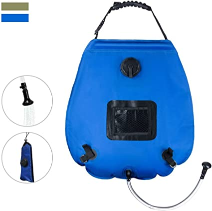 5 Gallon//20L Solar Camping Shower Outdoor PVC Bag Hiking Heated Water