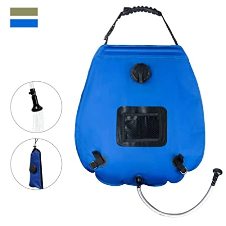 front facing ideep camping solar shower bag