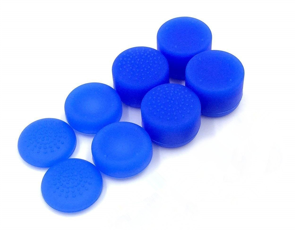 OBUY Professional Thumb Grips Thumbstick Joystick Cap Cover (blue) Extra High 8 Units Pack for PS4, Switch PRO, PS3, Xbox 360, Wii U tablet, PS2 controller