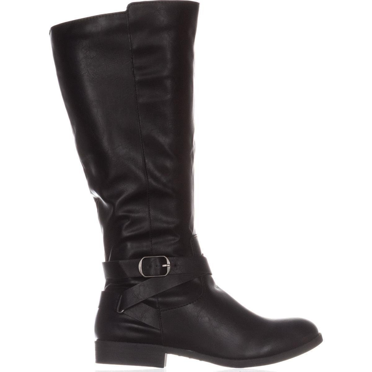 Womens Madixe Wide Calf Faux Leather Riding Boots Style /& Co