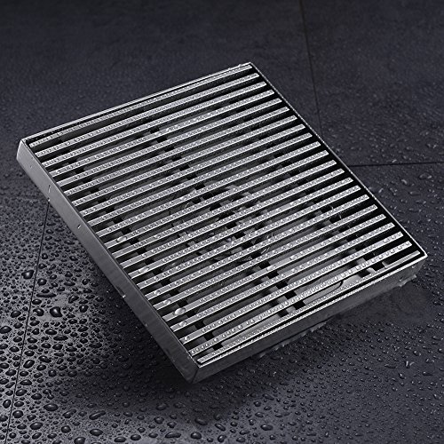 Hanebath 4 Inch Square Shower Floor Drain With Removable