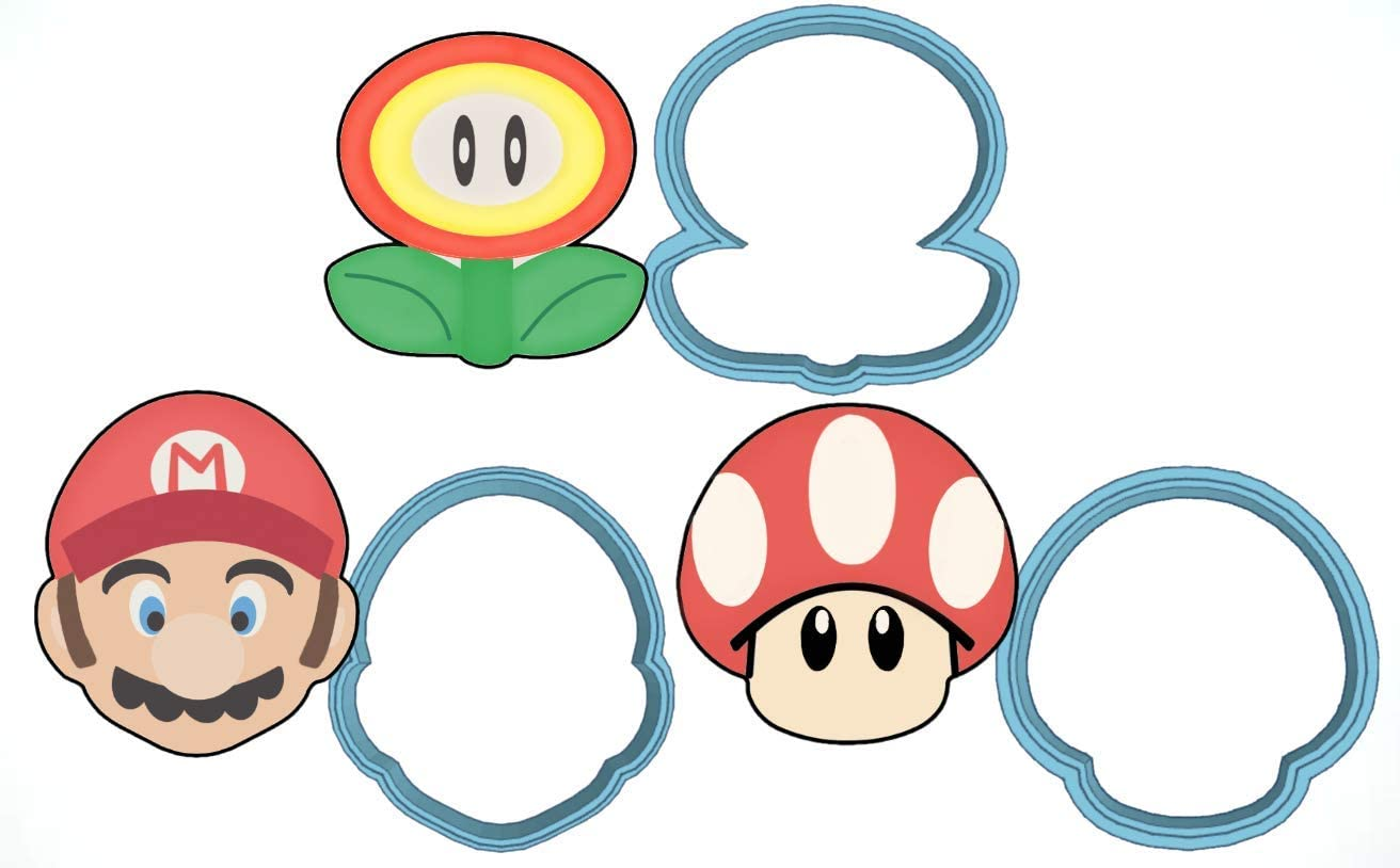Set Super Mario cookie cutter