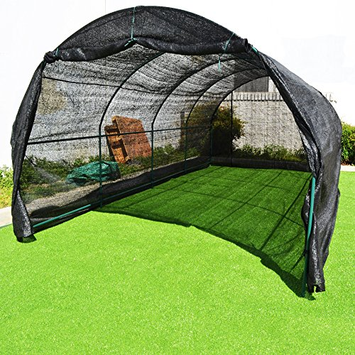 BenefitUSA GH052-3 Outdoor Gardening Greenhouse, Black
