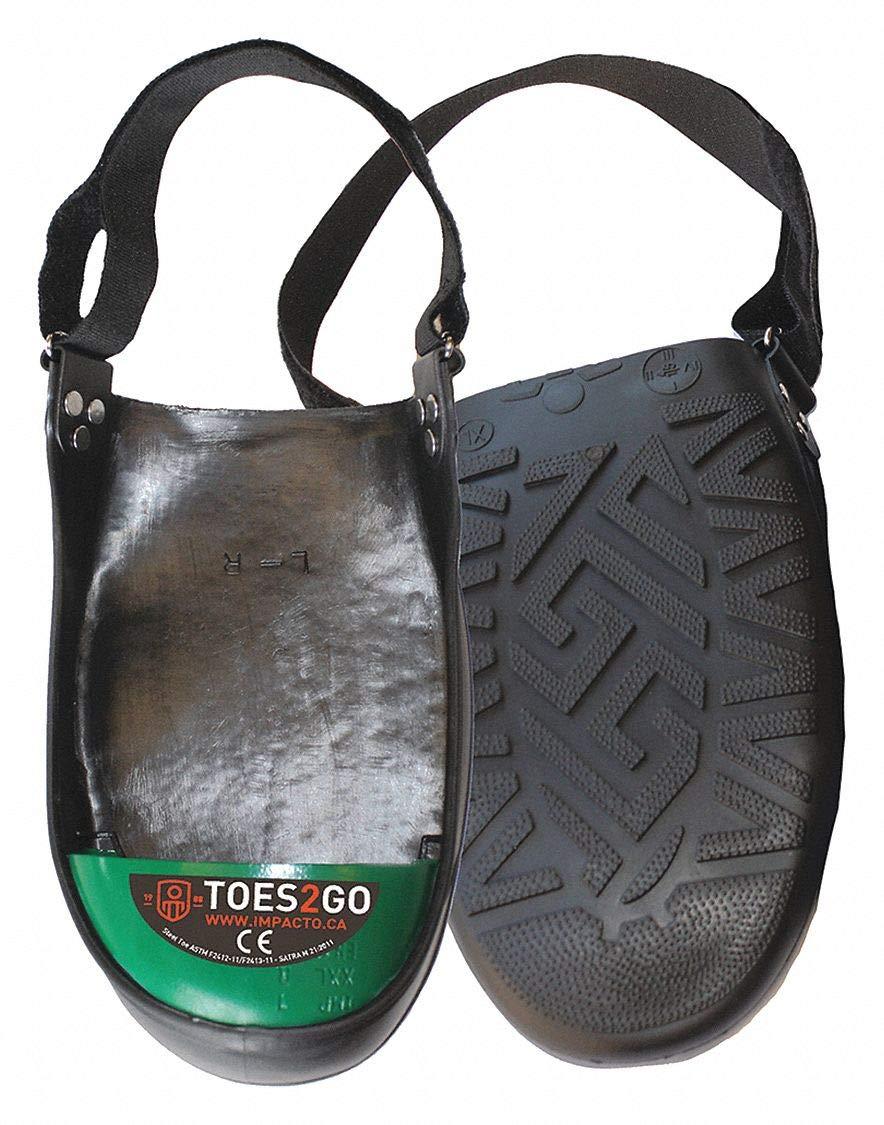 Unisex Overshoe Steel Toe Guard, Steel Toe Type, PVC Upper Material, Black/Green, Fits Shoe Size 13 by Impacto (Image #1)