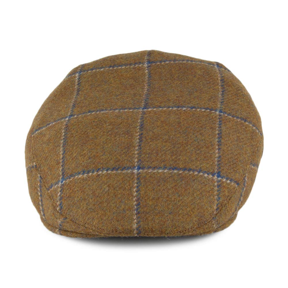 8ece02387d1 City Sports Hats Windowpane Virgin English Wool Flat Cap - Light Olive  Large  Amazon.co.uk  Clothing