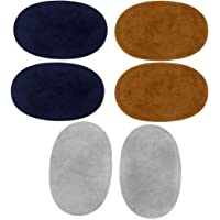 Blesiya Repair Patches, Pack of 3 Assorted Color Oval suede Fabric Patch Repair Sewing Elbow Knee Patches Clothing…