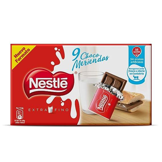 Nestlé Extrafino Choco Meriendas Chocolate con Leche Estuche - 10x180g