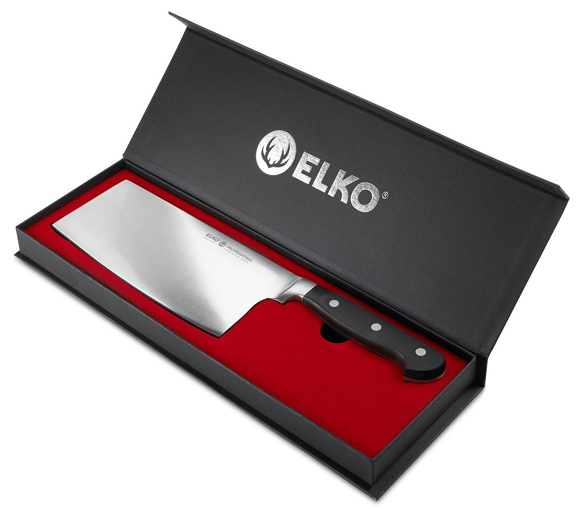 7 Inch Chopper-Cleaver-Butcher Knife – German Steel - In Gift Box - Multipurpose Use For Home Kitchen Or Restaurant – By Elko Professional