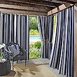 Cheap Sun Zero Valencia UV Protectant Indoor Outdoor Curtain Panel, 54″ x 95″, Indigo Blue
