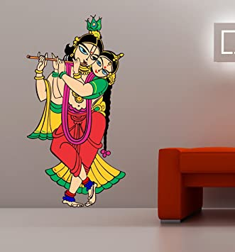 d7cd1487a1a Image Unavailable. Image not available for. Colour  SRGindia  Radhe  Krishna  Floor Sticker (Vinyl