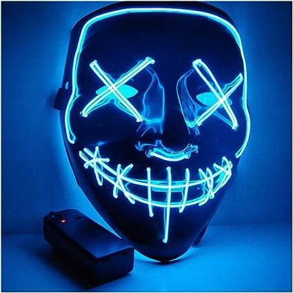 Eizur Halloween Masques Masquerade Purge Film El Wire Dj Fete Festival Halloween Costume Led Masque Plusieurs Couleurs