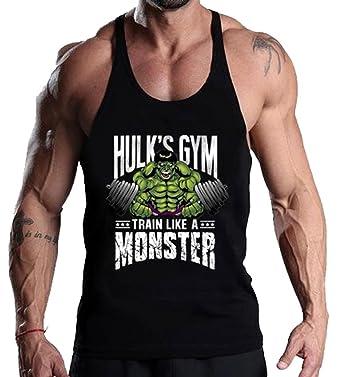 7fb817a6347e5 A. M. Sport Camiseta Tirante Hombre para Gimnasio. T-Shirt y Tank Top  Culturismo y Bodybuilding Fitness. (Hulk Pesas)  Amazon.es  Ropa y  accesorios