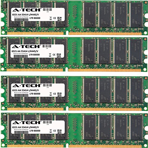 Abs Server Conquest - 4GB KIT (4 x 1GB) For ABS Conquest Series Server 1800 (Non-ECC) Conquest Server T1 (Non-ECC). DIMM DDR NON-ECC PC3200 400MHz RAM Memory. Genuine A-Tech Brand.