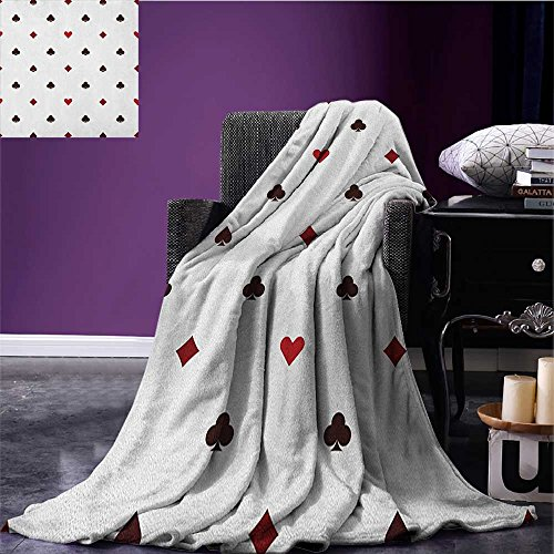 nket Gambling Club Lifestyle Fortune Luck Advertise Minimalistic Design Artwork beach blanket Red Ruby Maroon size:59
