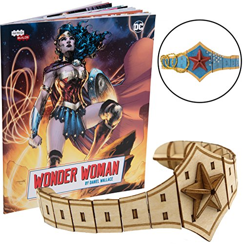 DC Comics Wonder Woman Book and 3D Wood Model Kit - Build, Paint and Collect Your Own Wooden Model - Great for Kids and Adults, 10+ - 4.25