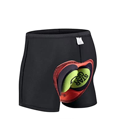 Mens Cycling Shorts Riding MTB 3D Pad Coolmax Gel Bike Fitness Underwear