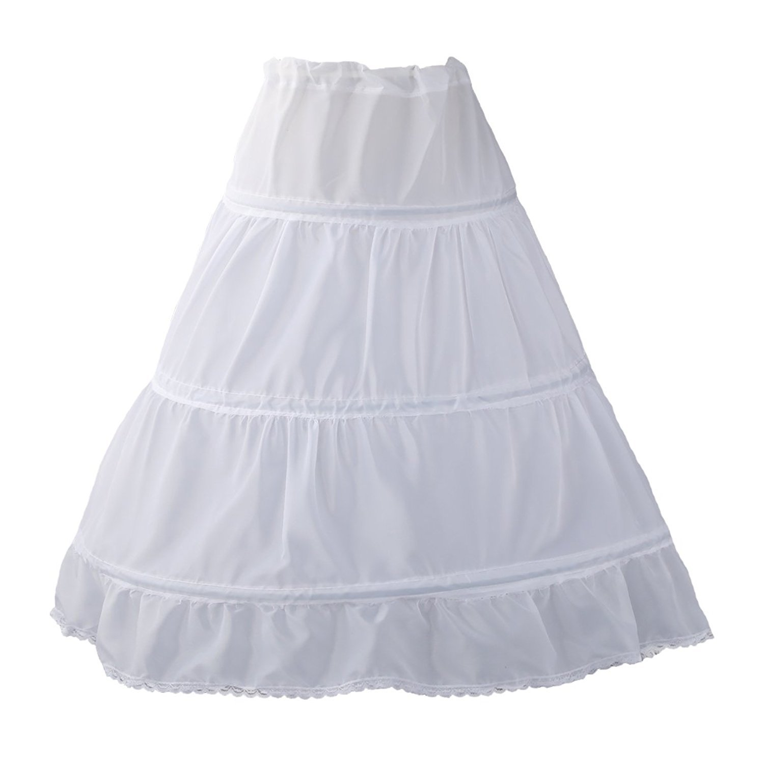 0951aca0d Amazon.com: Sittingley White Prom Use Petticoat for Little Age Girls One  Size: Clothing