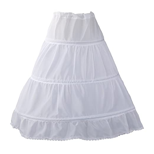 2c014c60f3a92 Amazon.com: Sittingley White Prom Use Petticoat for Little Age Girls ...