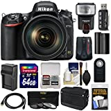 Nikon D750 Digital SLR Camera & 24-120mm f/4 VR Lens with 64GB Card + Battery & Charger + Messenger Bag + GPS Unit + Filters + Flash + Kit