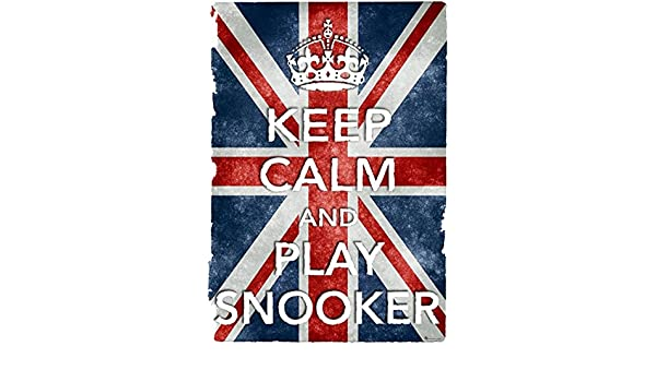 KC24 Framed Vintage Style Union Jack Keep Calm Play Snooker Funny Poster A3//A4