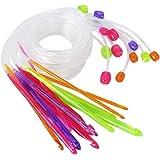 WINOMO 12 tailles tapis plastique Crochet crochets aiguilles à tricoter 3.5mm à 12,0 mm avec câble