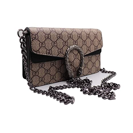 50b73553920b GD Dionysos 400249 Style Mini Flap Cute Canvas Leather Handbag Zip Cross-Body  Bag Chain