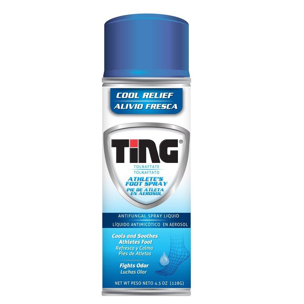 Ting Athlete's Foot Spray   Antifungal Spray Liquid   4.5 oz   Pack of 12