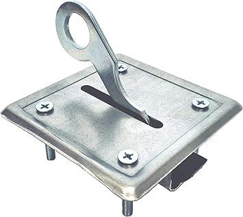 Cierre a cerradura empotrable para escalera retráctil y Botola de desván: Amazon.es: Bricolaje y herramientas
