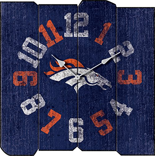 Imperial Officially Licensed NFL Merchandise: Vintage Square Clock, Denver Broncos