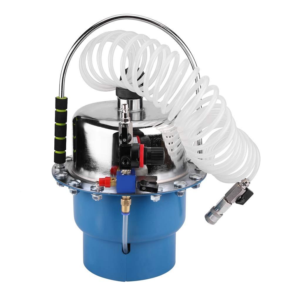 SOULONG Purgador de Frenos de Aire comprimido Dispositivo de Seguridad para purgar Frenos de Metal y pl/ástico de Calidad Dispositivo de Cambio de l/íquido de Frenos con un man/ómetro