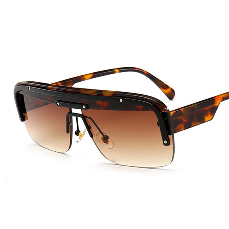Amazon.com: Arrival Half Frame Sunglasses Women Ins Popular ...