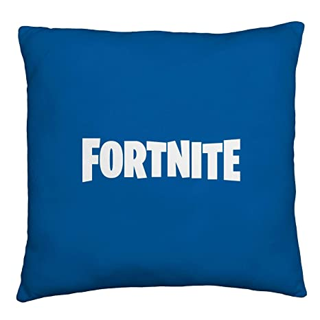Fortnite Official Square Cushion Pillow | Officially Licensed Super Soft Two Sided Emotes Design | Perfect for Any Childrens Room Or Bedroom, Blue, ...