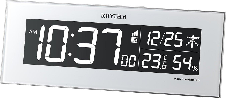 リズム時計 RHYTHM 電波 目覚まし 時計 Iroriaイロリア グラデーションLED表示 ホワイト 8RZ173SR03 B018HHONZA ホワイト ホワイト