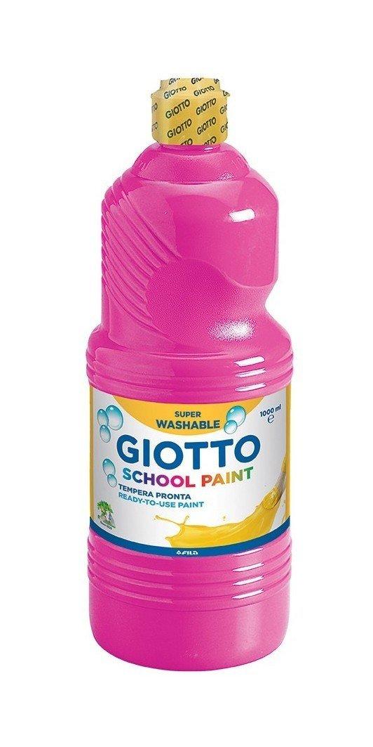 Giotto 535310 Tempera Lavabile da 500ml, Magenta