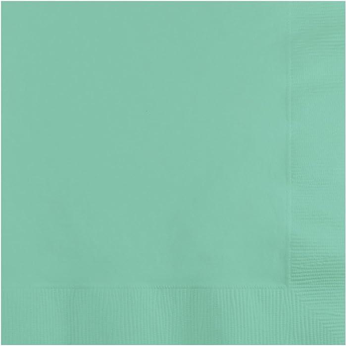 Creative Converting Fresh Mint 2-Ply Beverage Napkin, 9 7/8