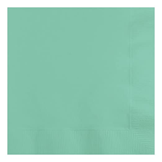 Creative Converting 318891 50 Count Beverage Napkins, Fresh Mint