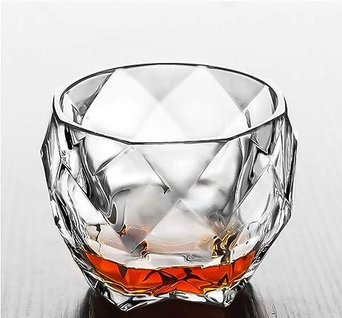 UKE Whisky Vaso Bajo, Sin Plomo Vidrio Cristalino De La Copa ...