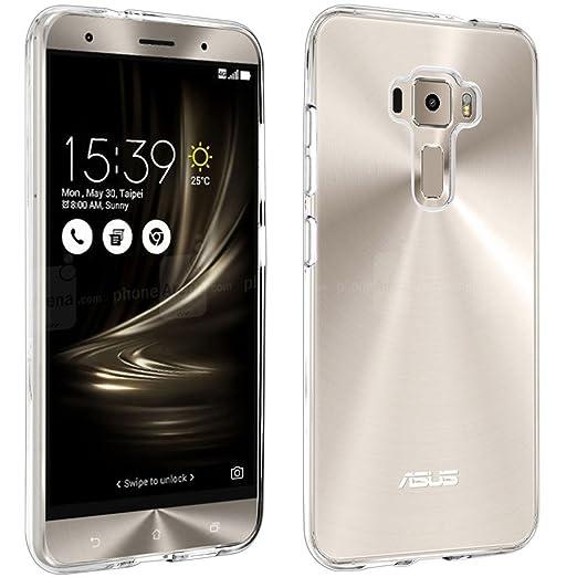 """19 opinioni per Cover ZenFone 3 ZE552KL 5,5"""" ,bdeals Ultra- Sottile Cristallo Trasparente [Anti"""