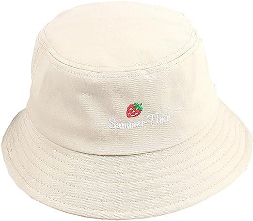 Ruinono Unisex Outdoors Visor Corduroy Fisherman Hat Solid Color Embroidery Hat Yellow