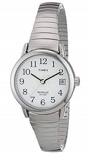Timex Classic T2H371 - Reloj de cuarzo para mujeres, correa de acero inoxidable, color
