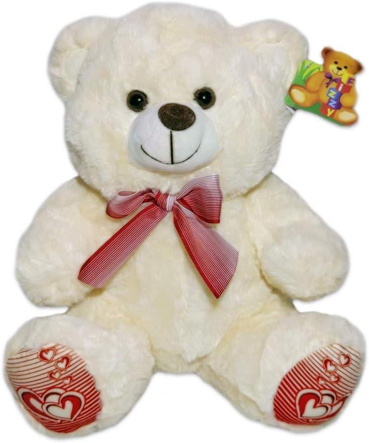 Urso de pelúcia com lacinho 33 cm - Fizzy Toys