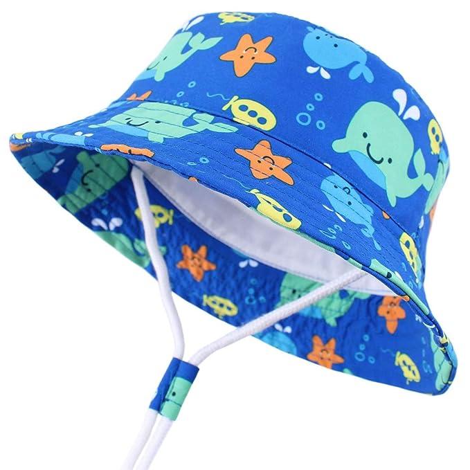 Adorel Cappelli da Sole Reversibile Anti-UV Neonati Bambini