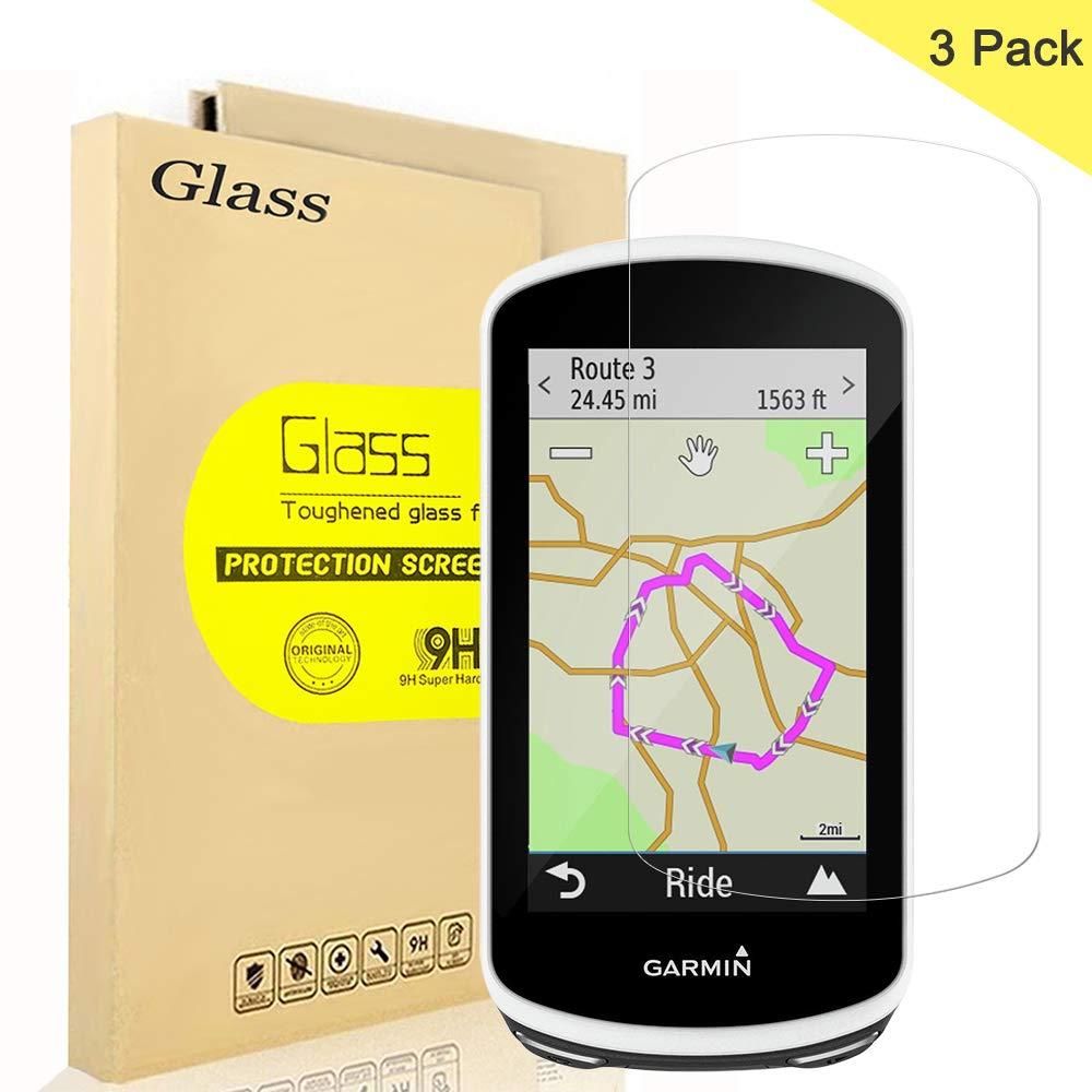 2 piezas 9H Anti-ara/ñazos Transparente LFOTPP Protector de Pantalla para Garmin Edge 1030 GPS Pelicula Protectora de Cristal Templado
