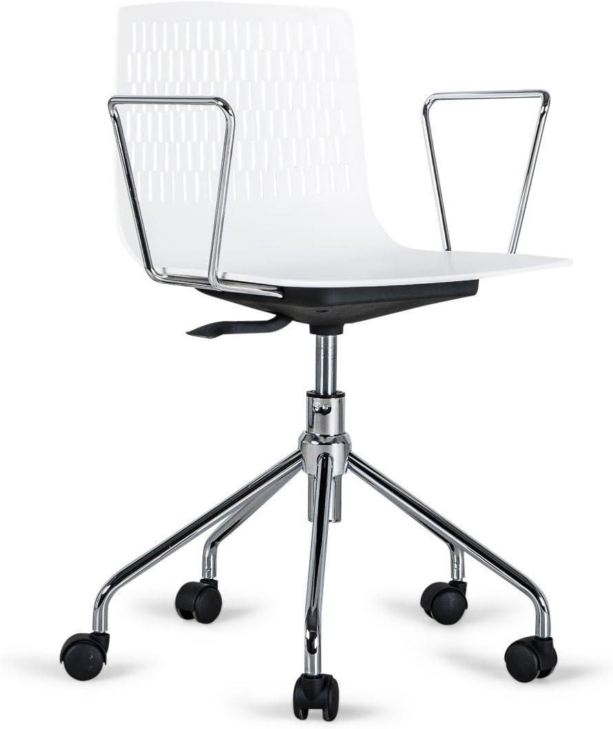 Piedras Danny sillas de Oficina, plástico, Blanca: Amazon.es: Hogar