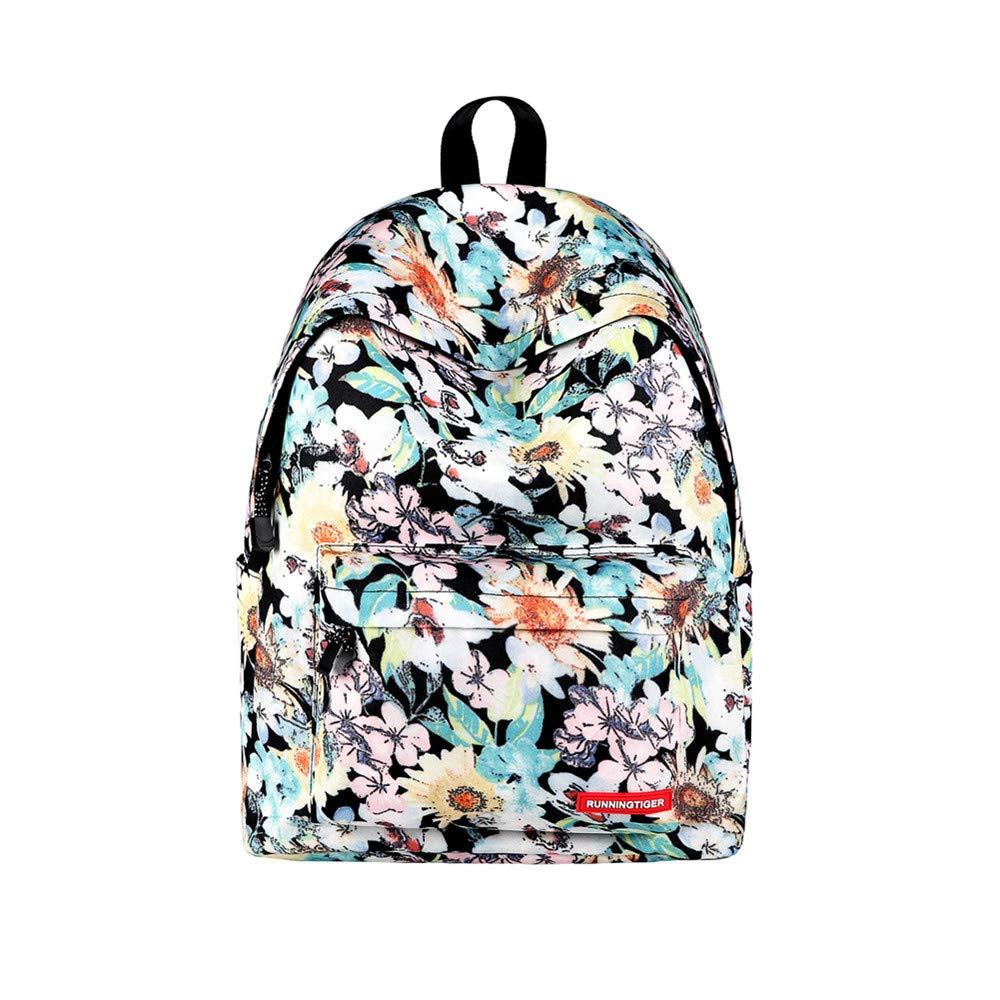 Canvas Backpack, Businda Cute Backpacks School Bookbags Printing Zipper Backpacks Fashion School Bags Casual Canvas Laptop Protective Rucksack for Kids Adults Boys Girls by Businda (Image #1)